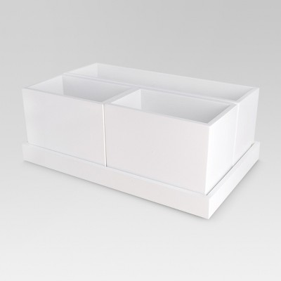 Modular Cosmetic Organization System with Magnetic Strip White - Threshold™