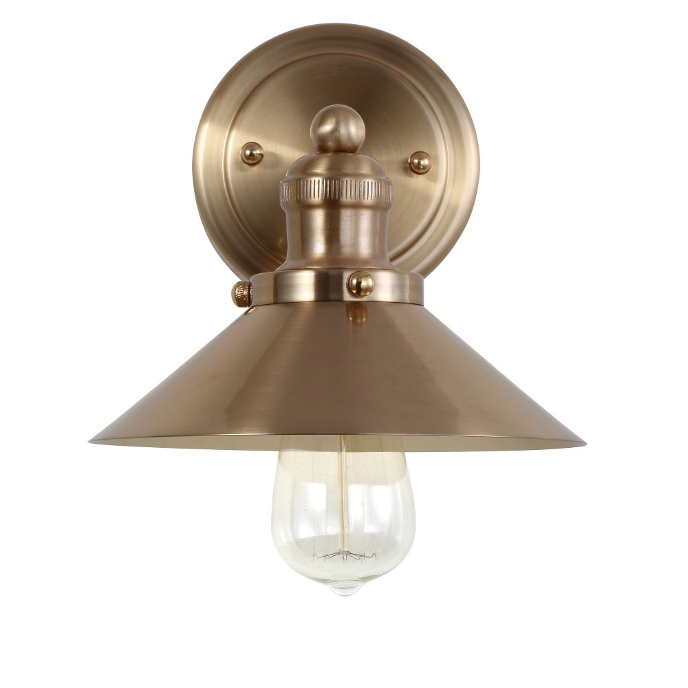 "Image of ""7.75"""" June Metal Shade Sconce Wall Light Brass - JONATHAN Y, Size: 7.75"""" 1 Light"""