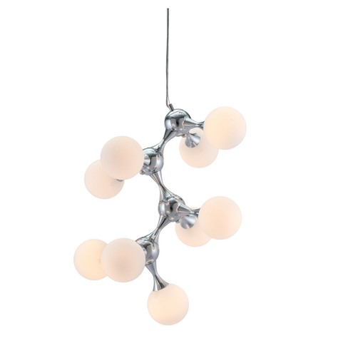 "Bold Helix Shape 25"" Ceiling Lamp - Chrome - ZM Home - image 1 of 7"