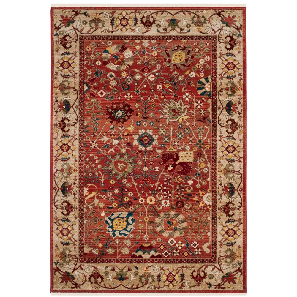 9'X12' Floral Loomed Area Rug Red/Beige - Safavieh