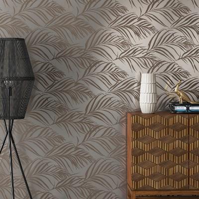 Metallic Palma Peel & Stick Wallpaper Silver - Opalhouse™