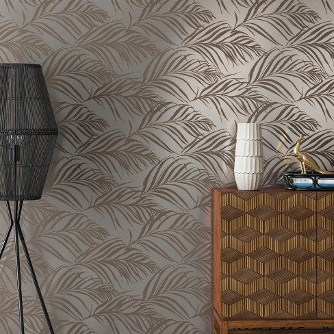 Metallic Palma Peel Stick Wallpaper Silver Opalhouse Target