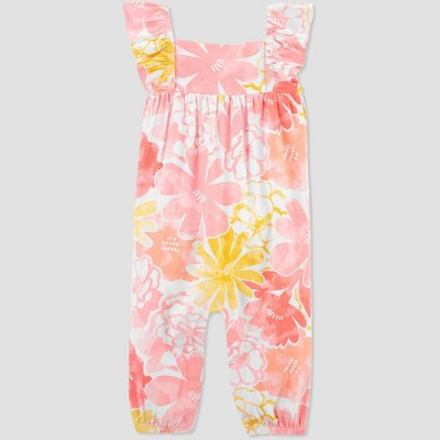 Baby Girls' Floral Jumpsuit - Just One You® made by carter's Pink