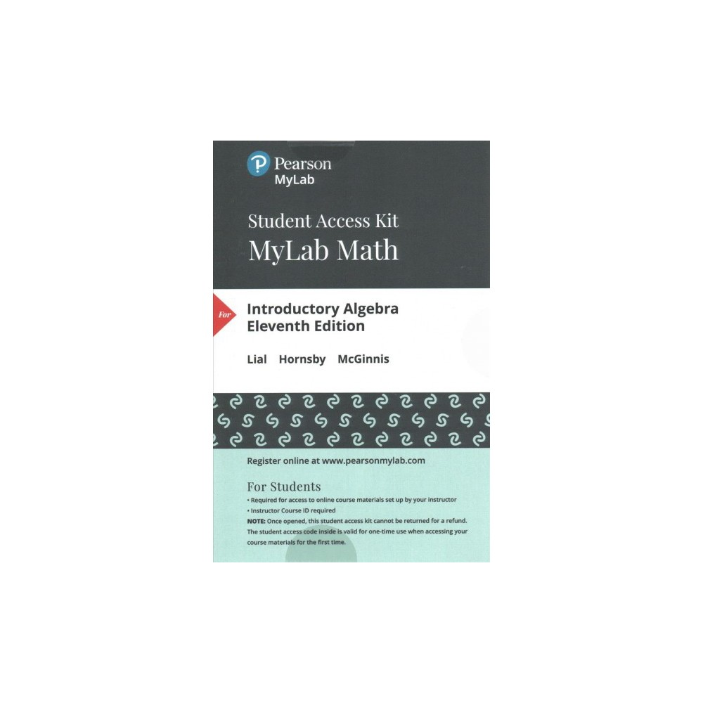 Introductory Algebra MyLab Math Access Code (Hardcover) (Marge Lial & John Hornsby & Terry McGinnis)