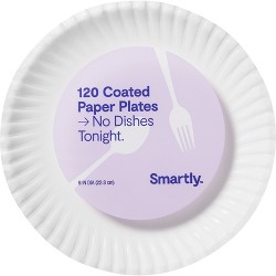 "Coated Paper Plates - 9""- 120ct - Smartly™"