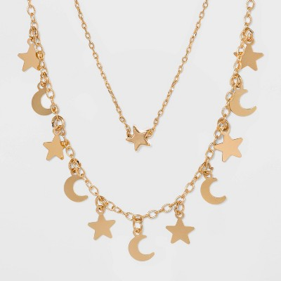Star and Moon Necklace Set - Wild Fable™ Gold