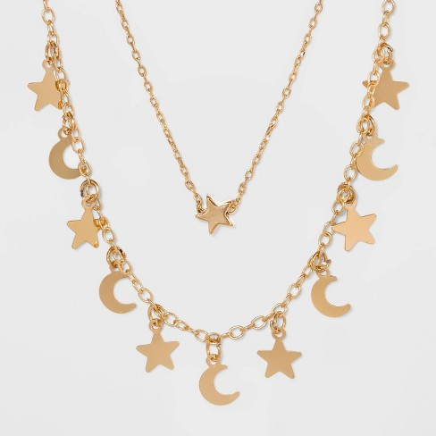Star and Moon Necklace Set - Wild Fable™ Gold - image 1 of 3