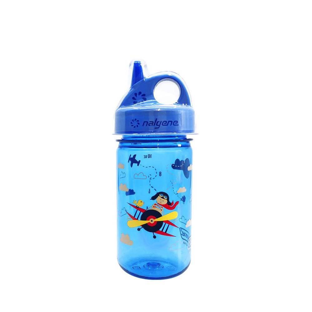 Image of Nalgene Grip N Gulp Toddler Cups - Bi Plane Print 12oz, Blue