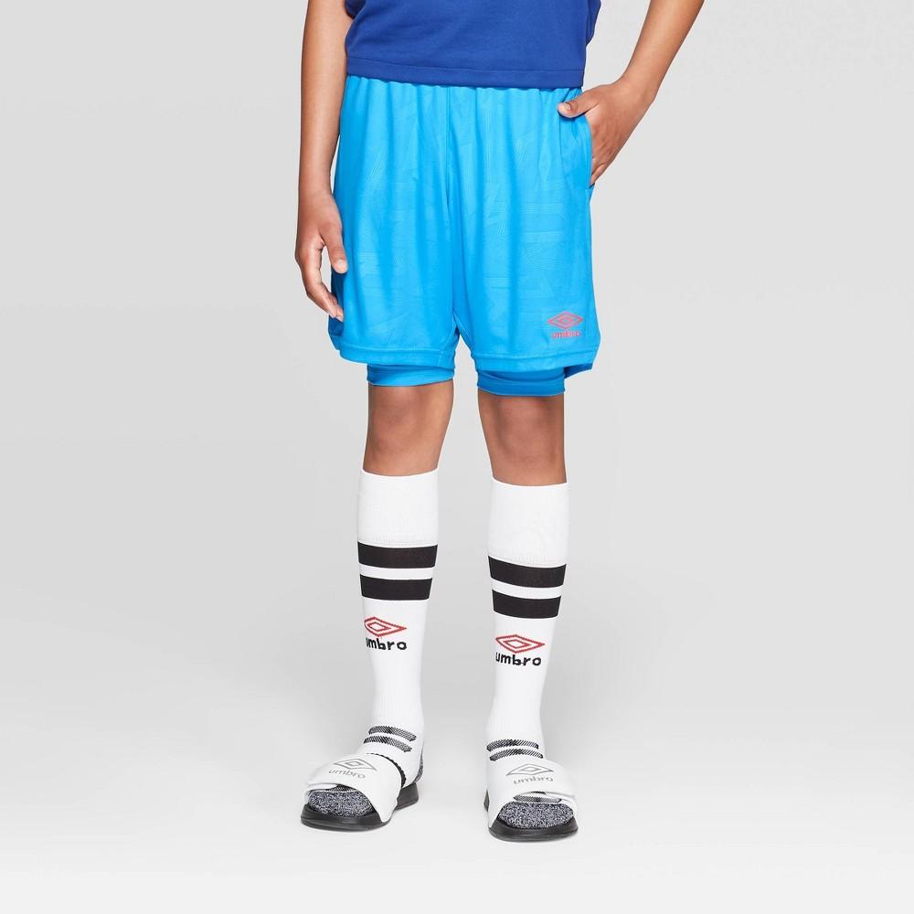 580d150825 Umbro Boys Knit 2 in 1 Shorts Blue XS