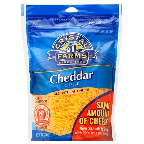 Crystal Farms Finely Shredded Cheddar Cheese - 8oz - image 1 of 1