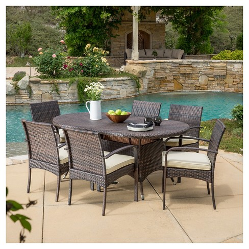 Anthony 7pc Dining Set - Multibrown - Christopher Knight Home - image 1 of 4