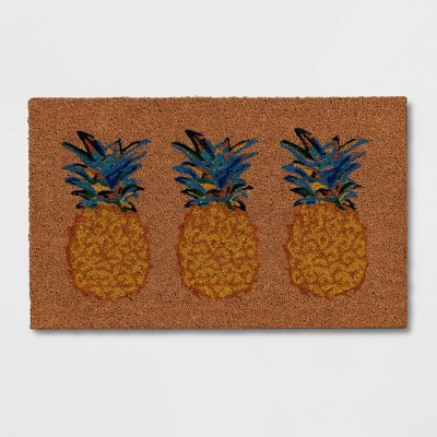 """1'6""""x2'6"""" Pineapples Doormat Natural - Opalhouse™"""