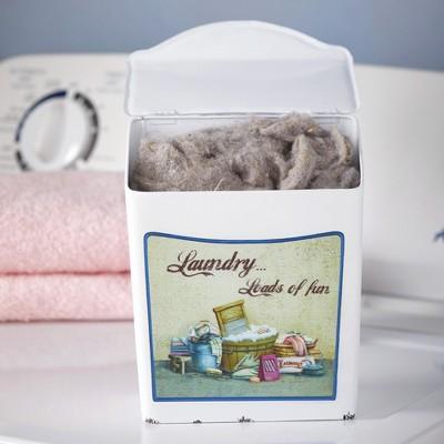 Lakeside Enamel Laundry Room Lint and Laundry Detergent Pod Box