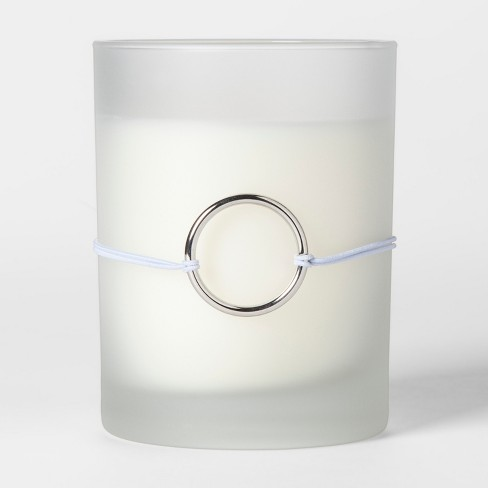 Frosted Charm Glass Candle Sparkling Jasmine 9oz - image 1 of 2