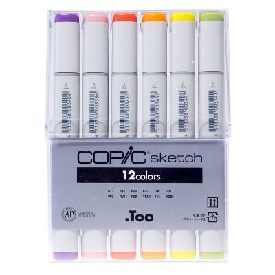 Sketch Markers 12ct Copic -Multicolor