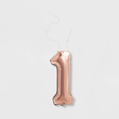 """1"" Foil Balloon Rose Gold - Spritz™"