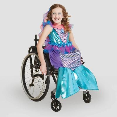 Kids' Adaptive Mermaid Halloween Costume Dress with Headpiece - Hyde & EEK! Boutique™