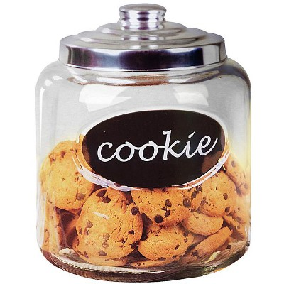 Home Basics Glass Cookie Jar with Metal Top