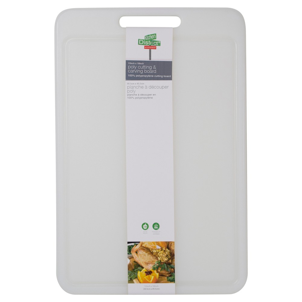 "Image of ""Architec 12""""x18"""" Poly Cutting & Carving Board, New White"""