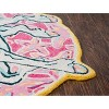 3'X3' Tufted Unicorn Round Accent Rug Pink - Rizzy Home - image 4 of 4