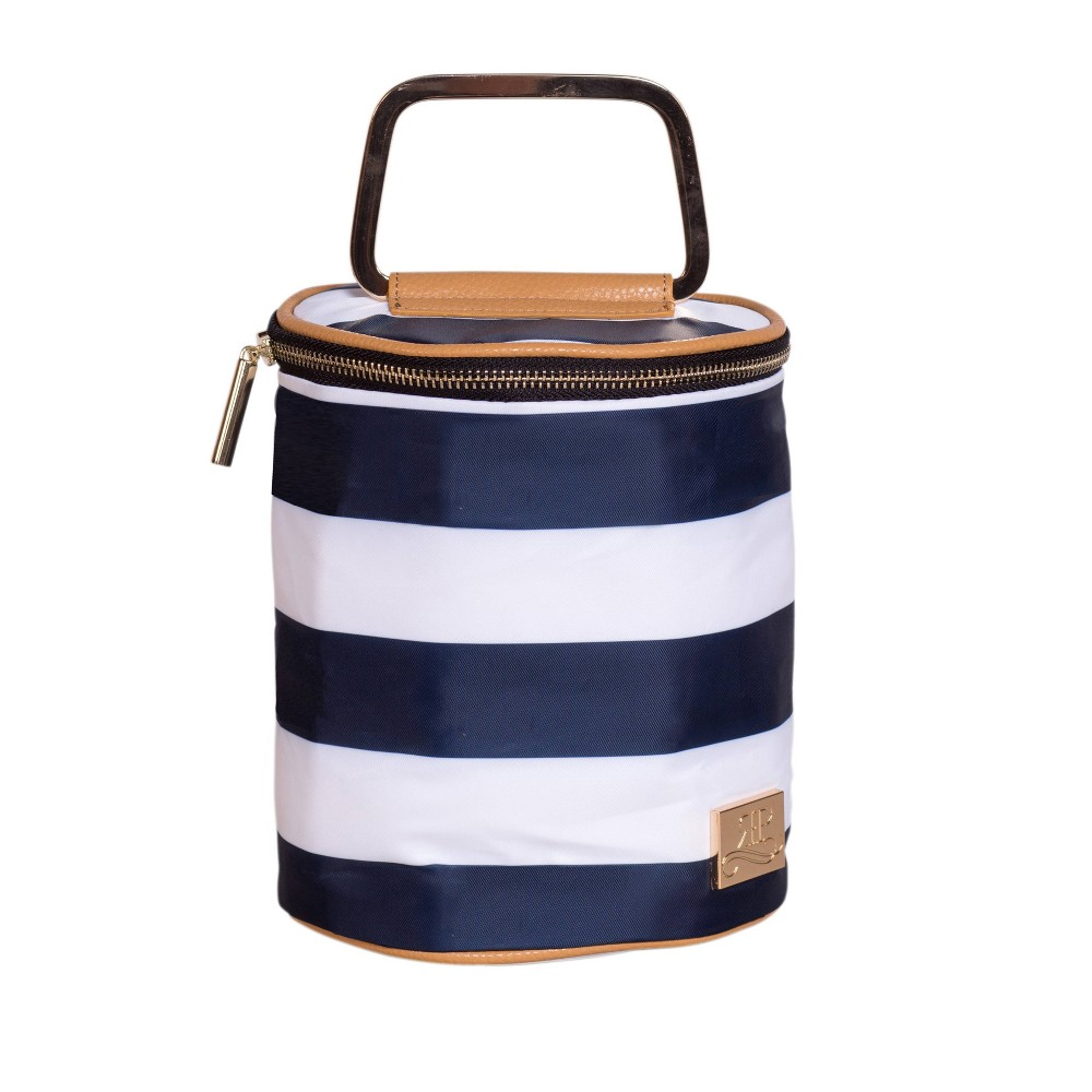 Image of ROSIE POPE Double Bottle Cooler - Navy Stripe