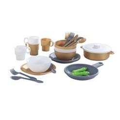 KidKraft 27pc Cookware Set Modern Metallics
