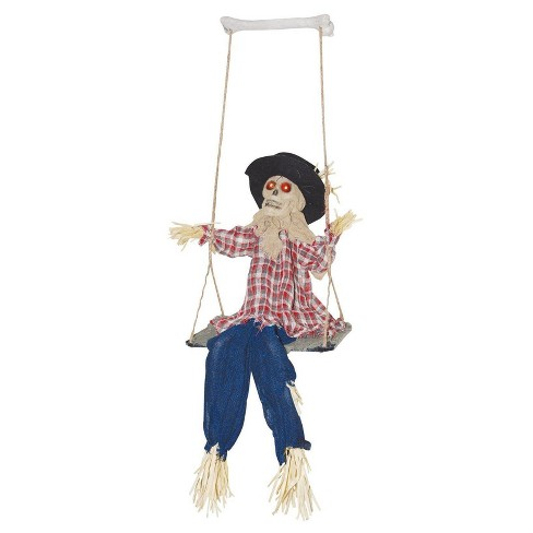 Halloween Kicking Scarecrow on Swing - image 1 of 1