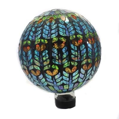 "Home & Garden 11.5"" Mediterrano Mosaic Globe Gazing Ball Yard Decor Echo Valley  -  Outdoor Sculptures And Statues"