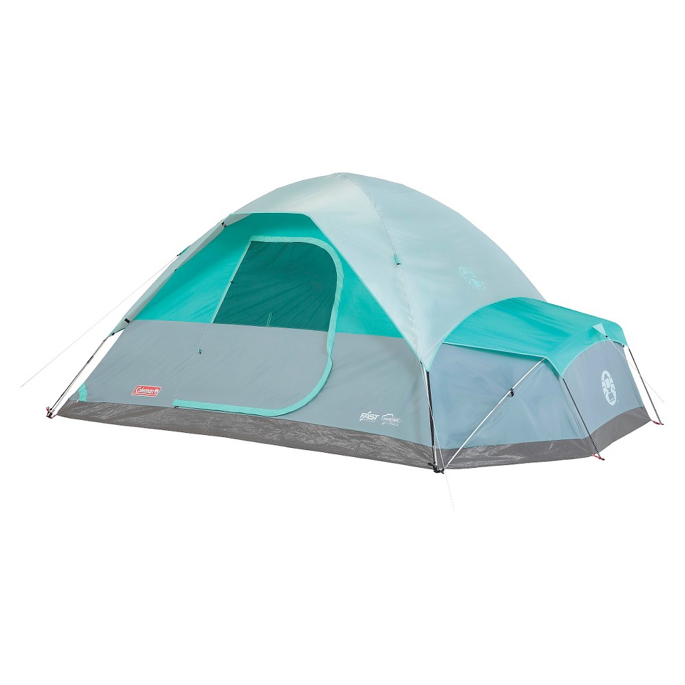 Image of Coleman Namakan Fast Pitch 7-Person Dome Tent with Annex - Gray/Blue, Gray Blue