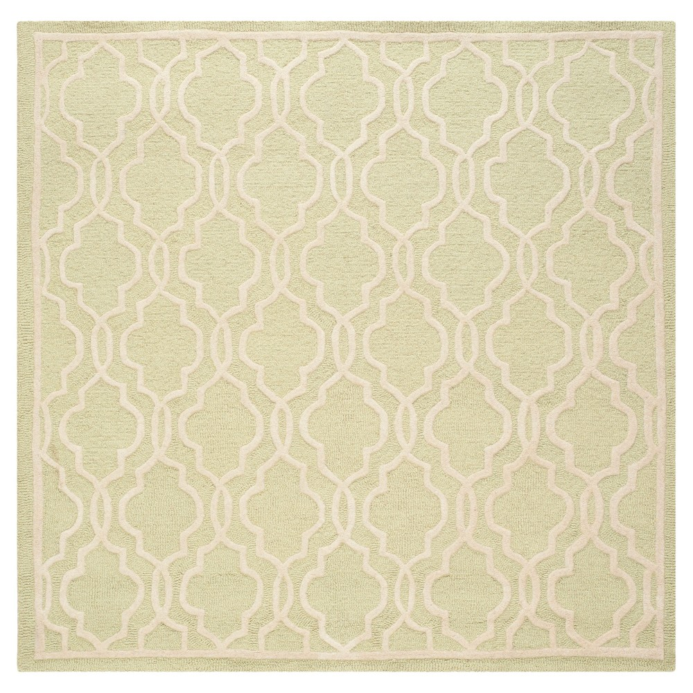 Langley Textured Area Rug - Light Green/Ivory (6' Square) - Safavieh