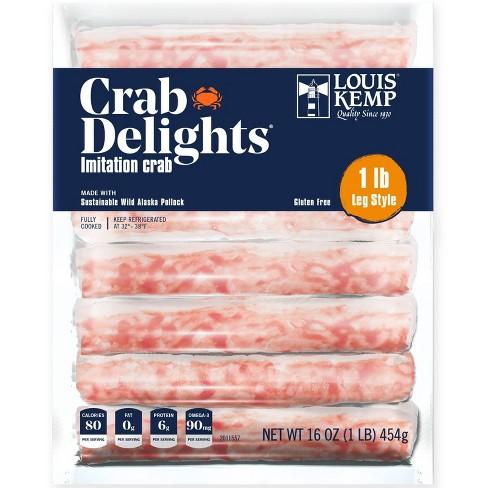 Louis Kemp Crab Delights Imitation Crab Leg Style - 16oz - image 1 of 3
