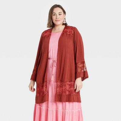 Women's Long Sleeve Lace Detail Jacket - Knox Rose™