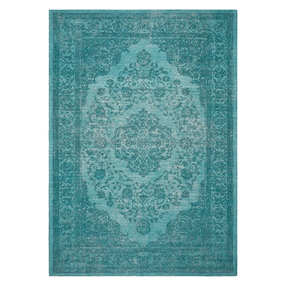 8'X10' Medallion Area Rug Aqua (Blue) - Safavieh