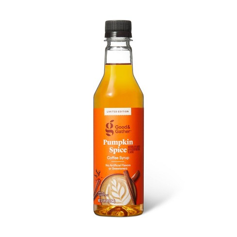 Naturally Flavored Pumpkin Spice Coffee Syrup - 12.7oz - Good & Gather™ - image 1 of 2