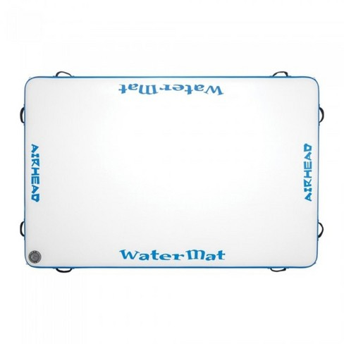 Airhead WaterMat 8 x 5 Ft Portable Inflatable Drop Stitch Deck Water Mat w/ Pump - image 1 of 4
