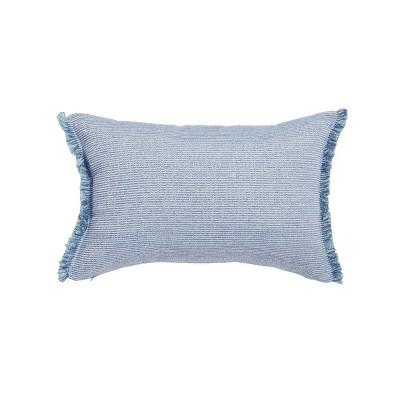 "14""x20"" Oversize Yars Striped Lumbar Throw Pillow Blue - Sure Fit"