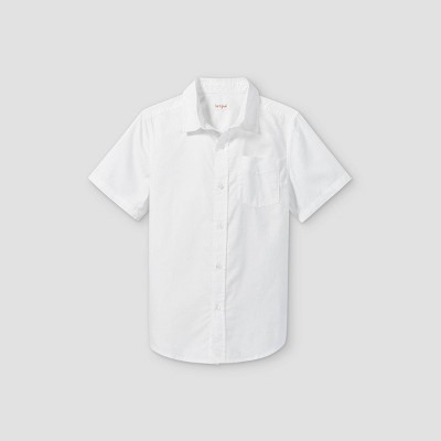 Boys' Oxford Short Sleeve Button-Down Shirt - Cat & Jack™ White