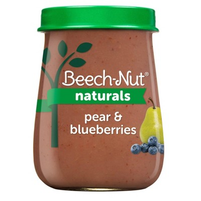 Beech-Nut Naturals Pear & Blueberry Baby Food Jar - 4oz