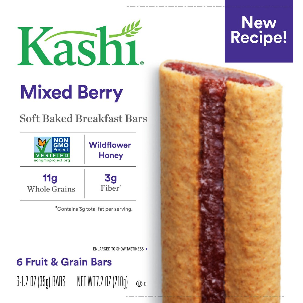 Kashi Mixed Berry Soft Baked Breakfast Bars - 6ct