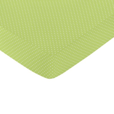 Sweet Jojo Designs Fitted Crib Sheet - Hooty - Lime
