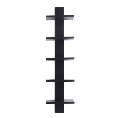 Spine Wall Book Shelves Stylish and Functional Black - Proman Products