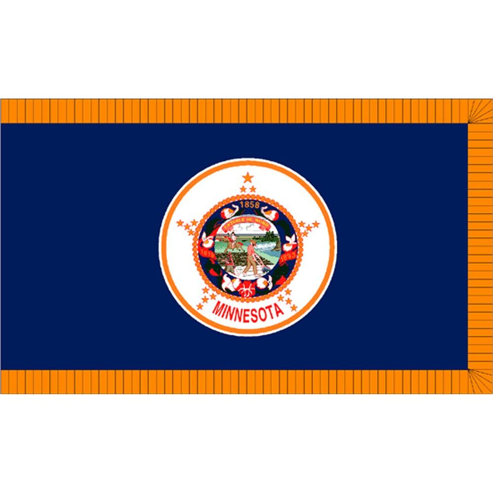 Image of Halloween Minnesota State Flag - 4' x 6'