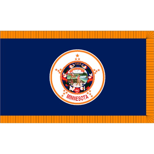 Halloween Minnesota State Flag - 4' x 6'