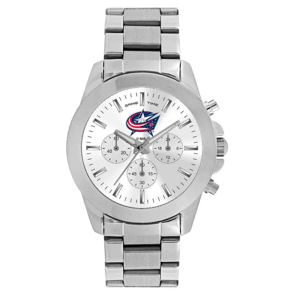 Women's Game Time NHL Knockout Sports Watch - Silver - Columbus Blue Jackets