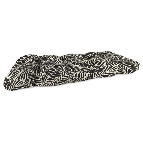 Outdoor Wicker Sette Cushion In Malkus Black  - Jordan Manufacturing - image 1 of 2