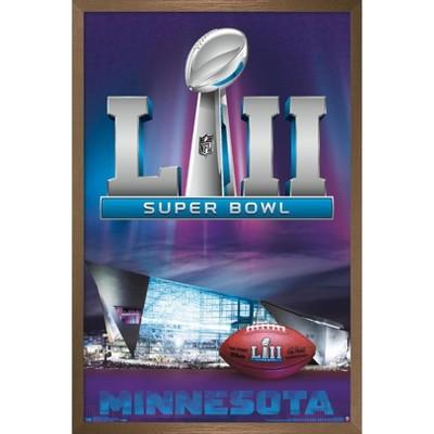 """Trends International NFL Super Bowl LII - Celebration Framed Wall Poster Prints Bronze Framed Version 22.375"""" x 34"""""""