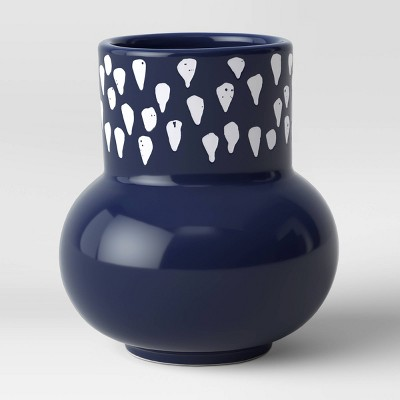 Ceramic Vase Blue/White - Opalhouse™