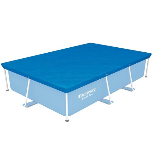 Bestway 58105 Flowclear Pro Rectangular Above Ground Swimming Pool Cover, Blue - image 1 of 3