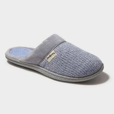 Women's Dearfoams Chenille Scuff Slide Slippers - Sleet Gray L (9-10)