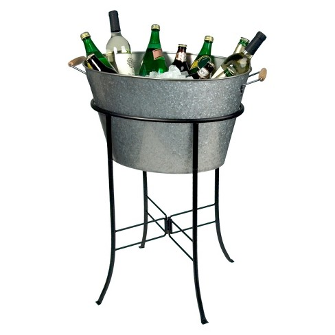 Masonware Oval Party Tub with Stand, Galvanized - image 1 of 1